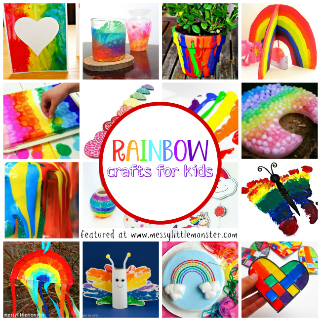 Rainbow Craft And Activity Ideas For Kids Messy Little Monster