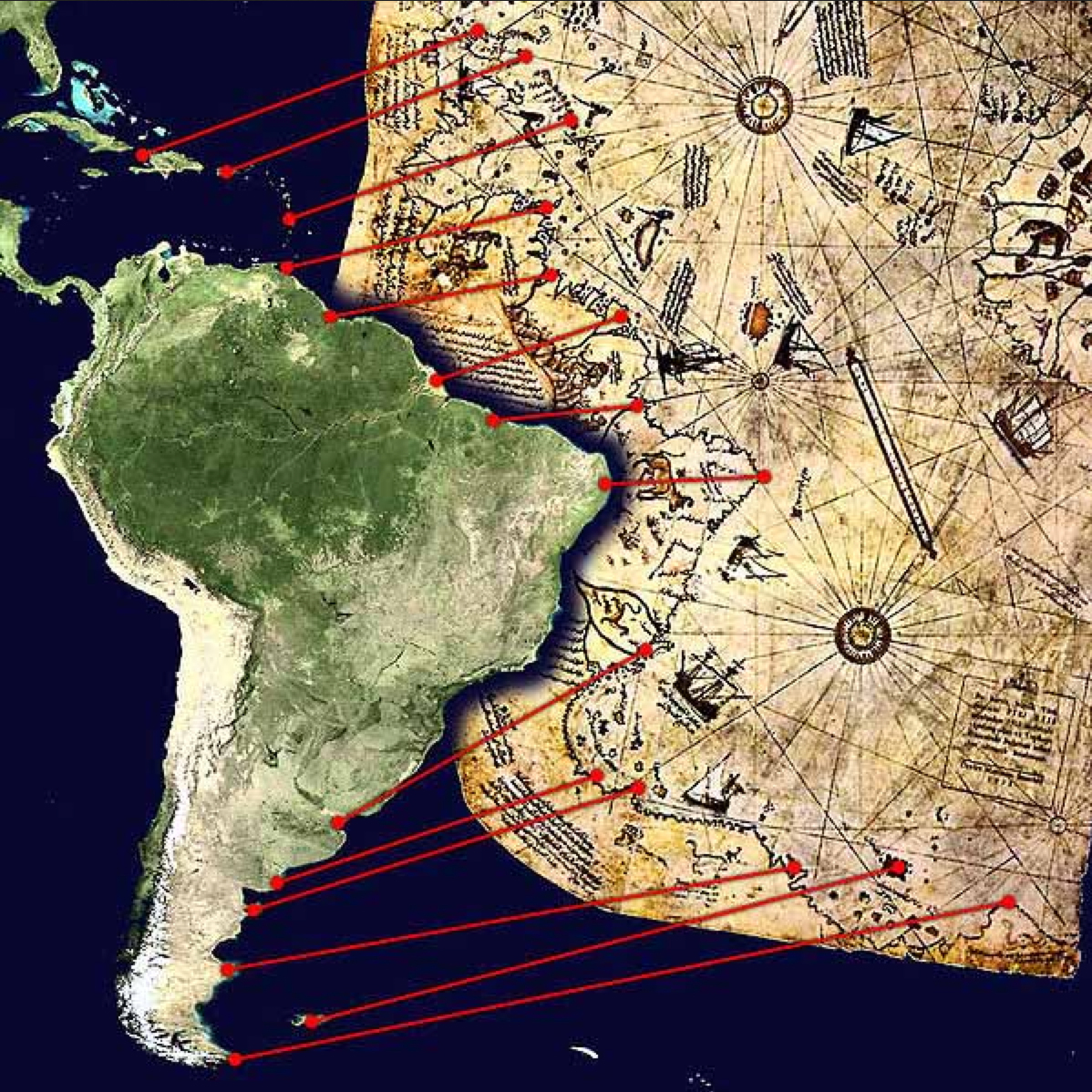 Ancient romans in america headline hamster because it matters turkish admiral piri reiss map of america years before much of it was discovered click on image to enlarge gumiabroncs Gallery