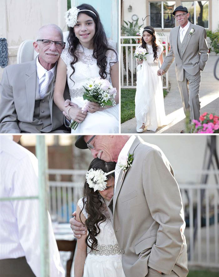 36 People's Heart-Breaking Last Wishes - Dying Dad Walks His 11-Year-Old Daughter Down The 'Aisle' To Give Her A Lasting Memory