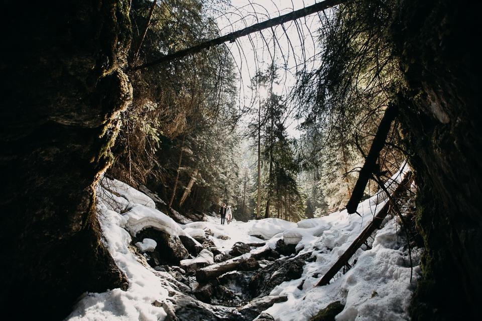 śnieg w Dolinie Kościeliskiej