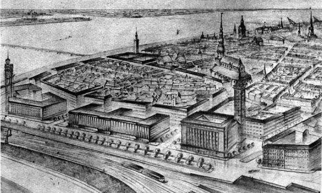 Предвоенные планы застройки улицы 13 Января.