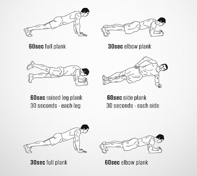 Different planking positions