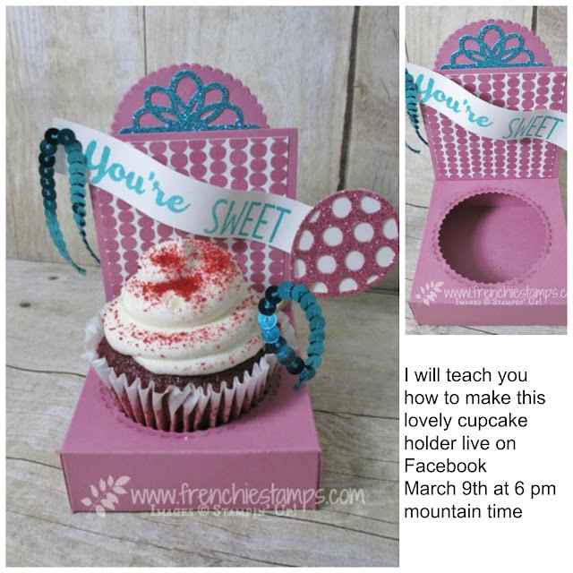 Cupcake Holder, Cool treat Stampin'Up! Frenchie Live