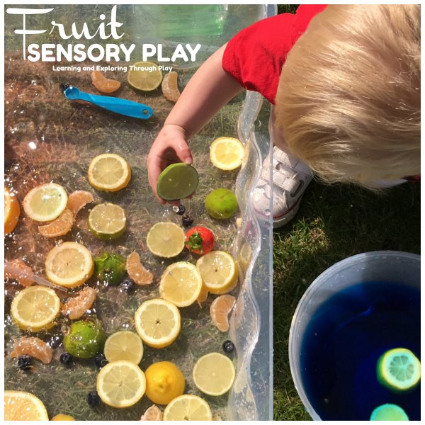Sensory Fruit Water Play for Preschool