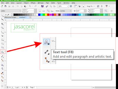 cara membuat tulisan keren timbul di corel draw x7