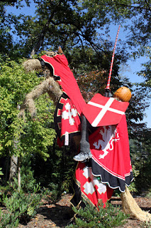 Knightly Scarecrow at Atlanta Botanical Gardens