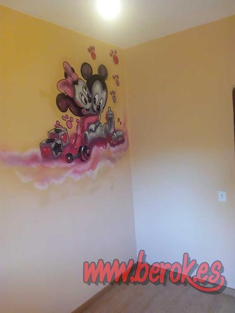 cuartos infantiles murales pintados en pared