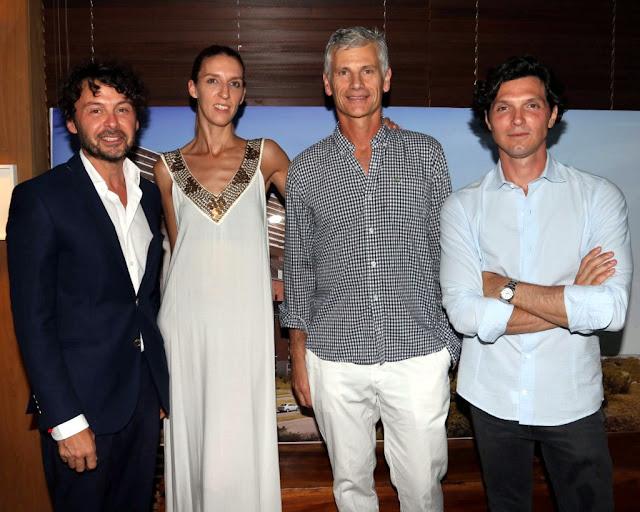 Wally Diamante, Guillermo Tempesta junto a su mujer, y Facu Garayalde en #PuntaDelEste