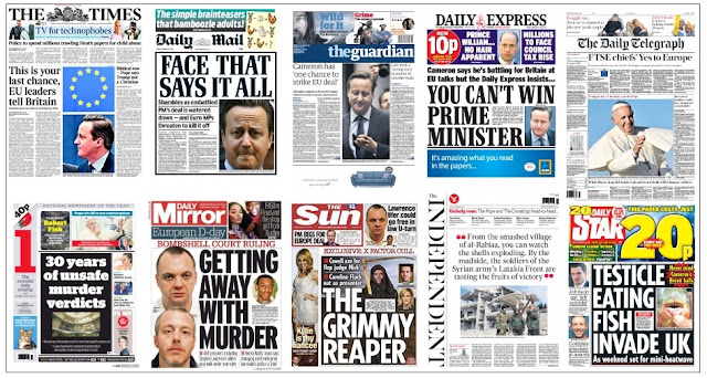 front pages 19-02-16
