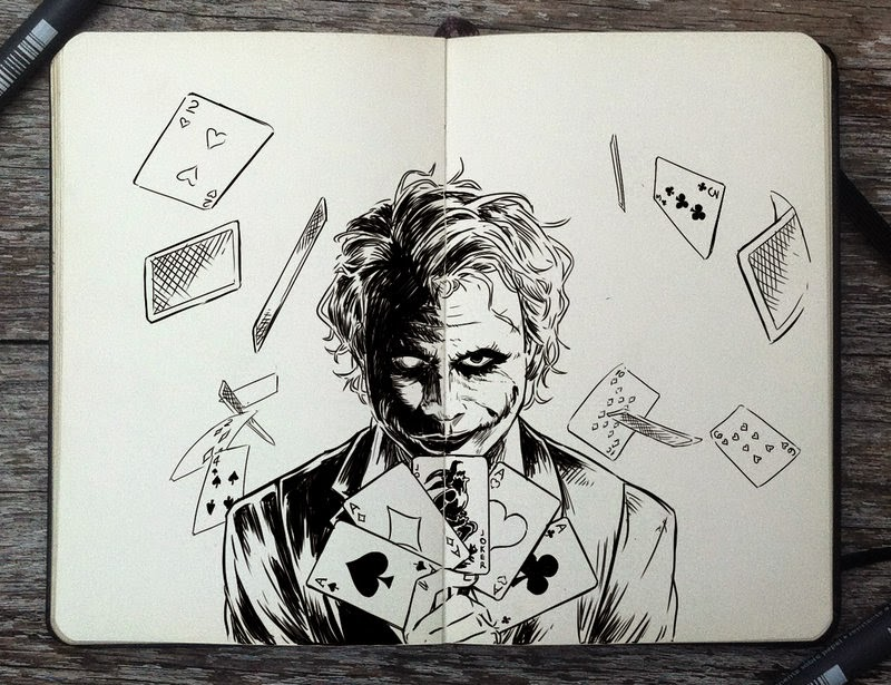 25-The-Joker-Gabriel-Picolo-365-Days-of-Doodles-end-of-2014-www-designstack-co