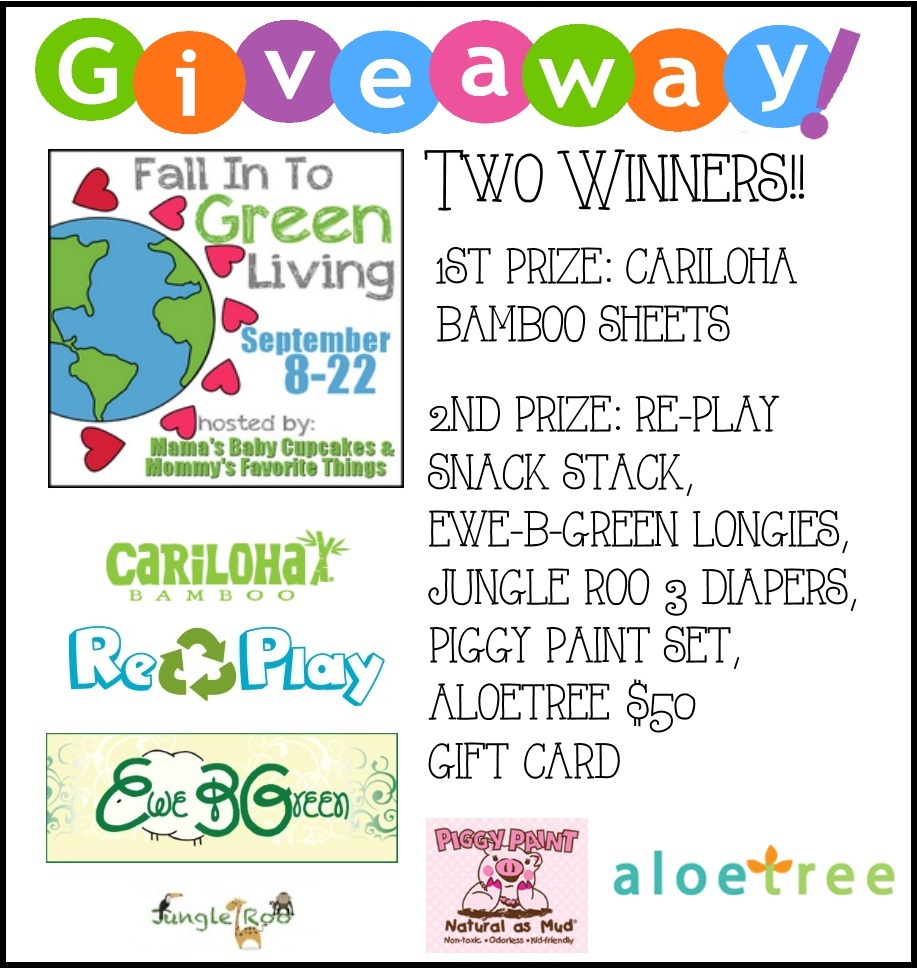 Fall Into Green Living Giveaway Hop Grand Prize