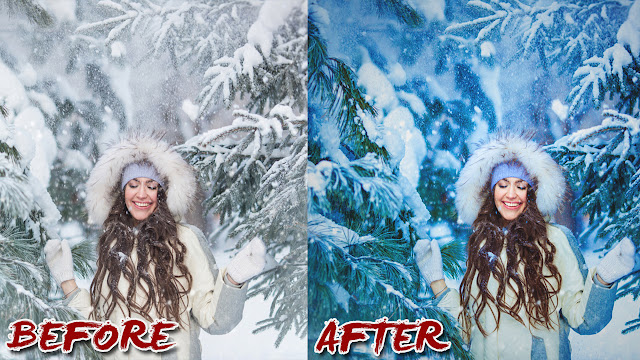 Movie Poster 2019: Dramatic Color Winter Photo Manipulation And Edit
