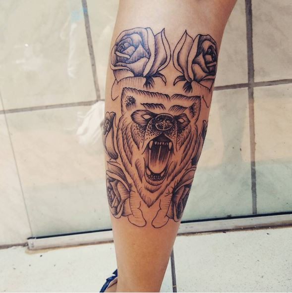 50 Tribal Bear Tattoos For Men 2019 Grizzly Teddy Pooh