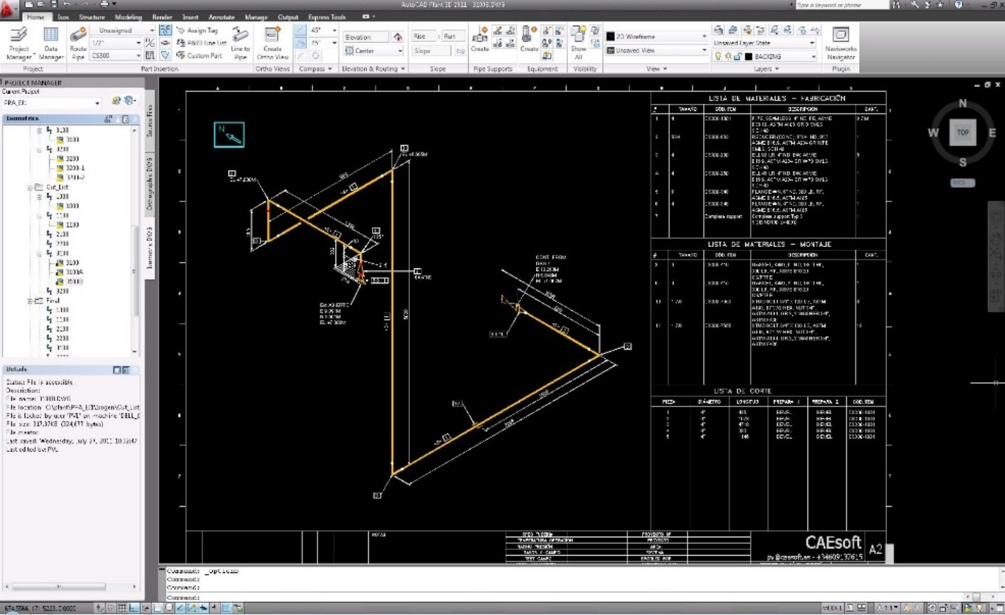 planos isometricos plant 3d