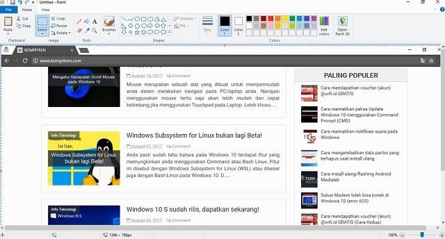 Cara Melakukan Screenshoot (Tangkapan Layar) di Windows 3