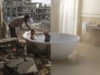 Mengharukan, Perbandingan Foto Antara Dua Dunia yang Berbeda, Kepedihan dan Kebahagian
