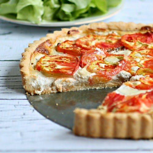 Heirloom Tomato and Gorgonzola Tart