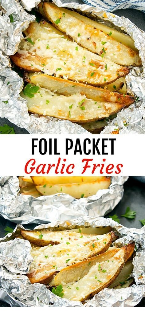 Foil Packet Garlic Fries