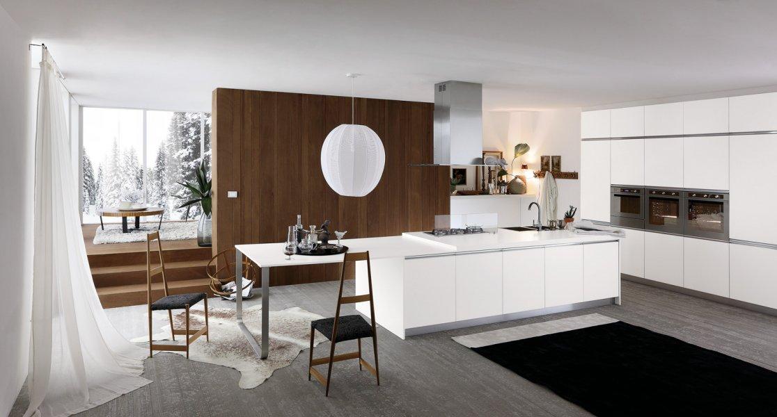 cuisine design blanche avec lot. Black Bedroom Furniture Sets. Home Design Ideas