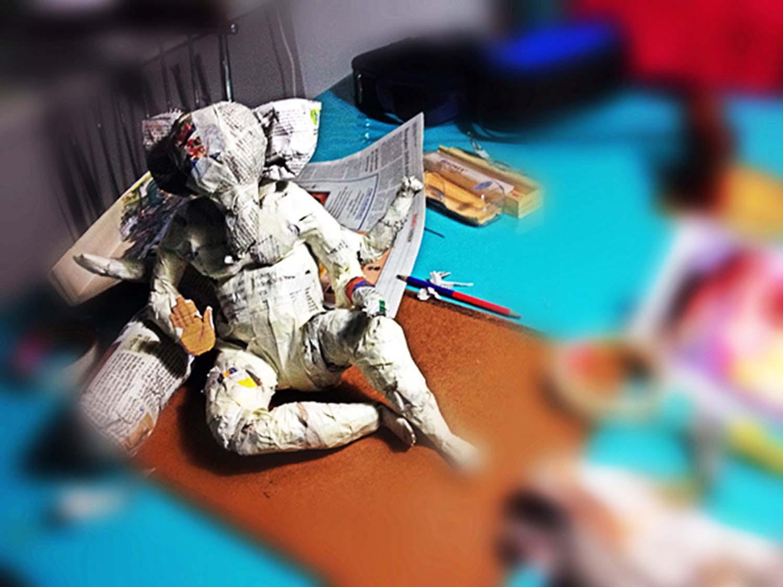 Paper- mache eco-friendly Ganesha!