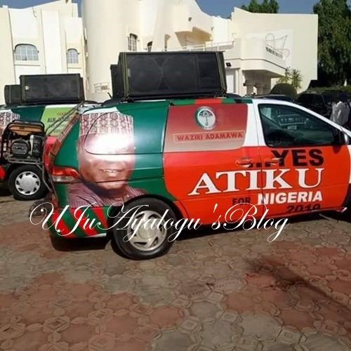 2019 Presidential Election: Photos of Atiku/PDP Branded Campaign Vehicles Flood Social Media