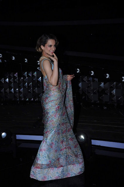 Kangana Ranaut hot in saree pics