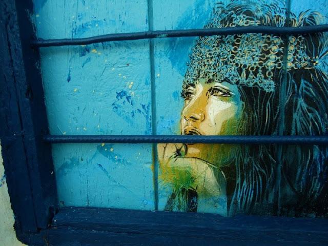 Уличное искусство Кристиана Гуеми (Christian Guémy aka C215) 11