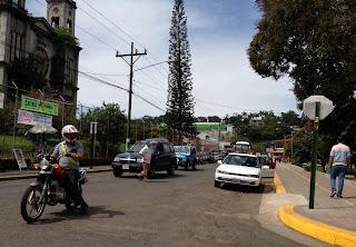 Street corner in Santiago de Puriscal