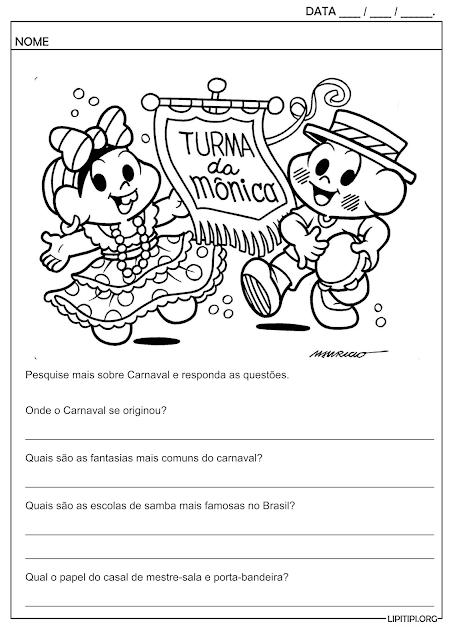 Carnaval Pesquisa Perguntas e Respostas Atividade
