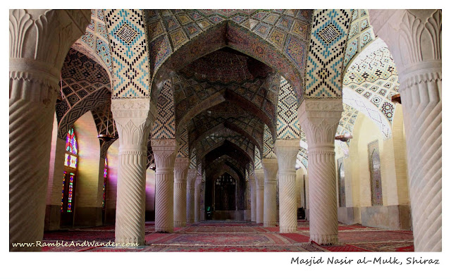 Iran: Top Things to Do and See in Shiraz - Nasr al Mulk - Ramble and Wander