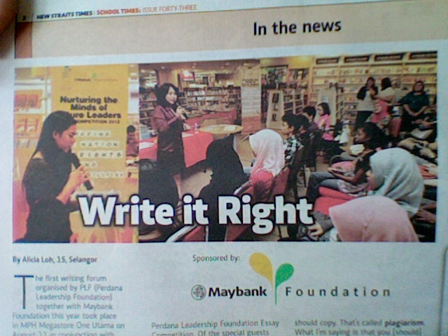 maybank foundation-perdana leadership foundation essay and blogspot competition