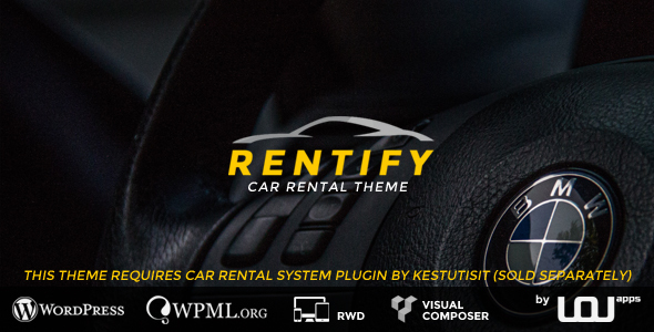 Free Download Rentify Car Rental WordPress Theme