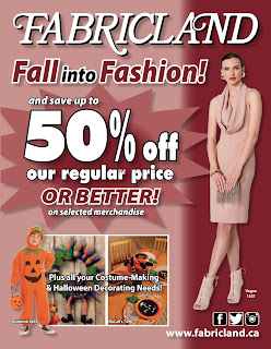 Fabricland Flyer October 2 – 31, 2017