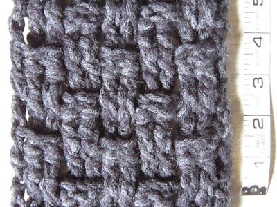 crochet, gauge, triple crochet, basket weave
