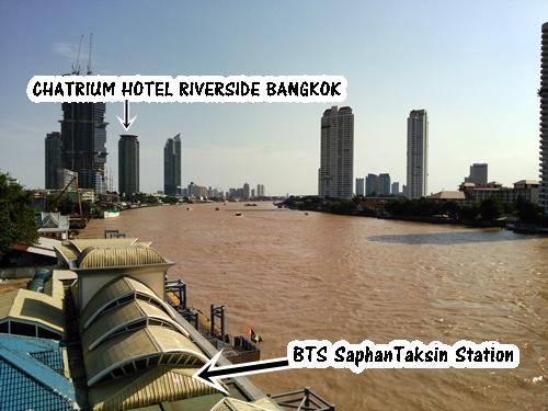 チャトリウム ホテル リバーサイド バンコク CHATRIUM HOTEL RIVERSIDE BANGKOK ホテルの立地は、BTSサパーンタクシン駅(水上バスの拠点)からホテル専用の無料シャトルボートで5分です
