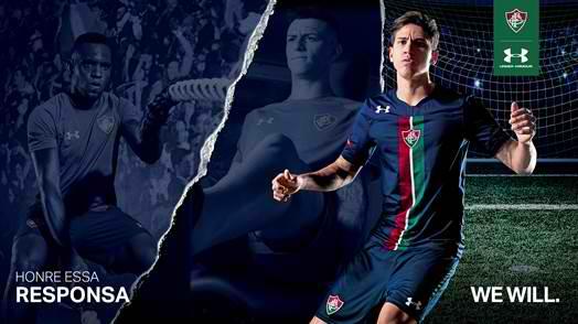 5772a43fa13 Under Armour no Brasil   camisa Azul e tempo de contrato com o Fluminense