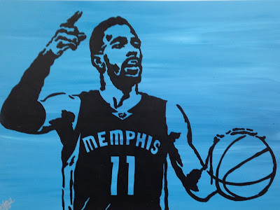 Adam Exelbierd | CORE 4: Mike Conley | 48 x 36 | $400