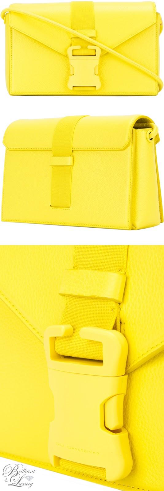 Brilliant Luxury ♦ Christopher Kane Devine yellow shoulder bag