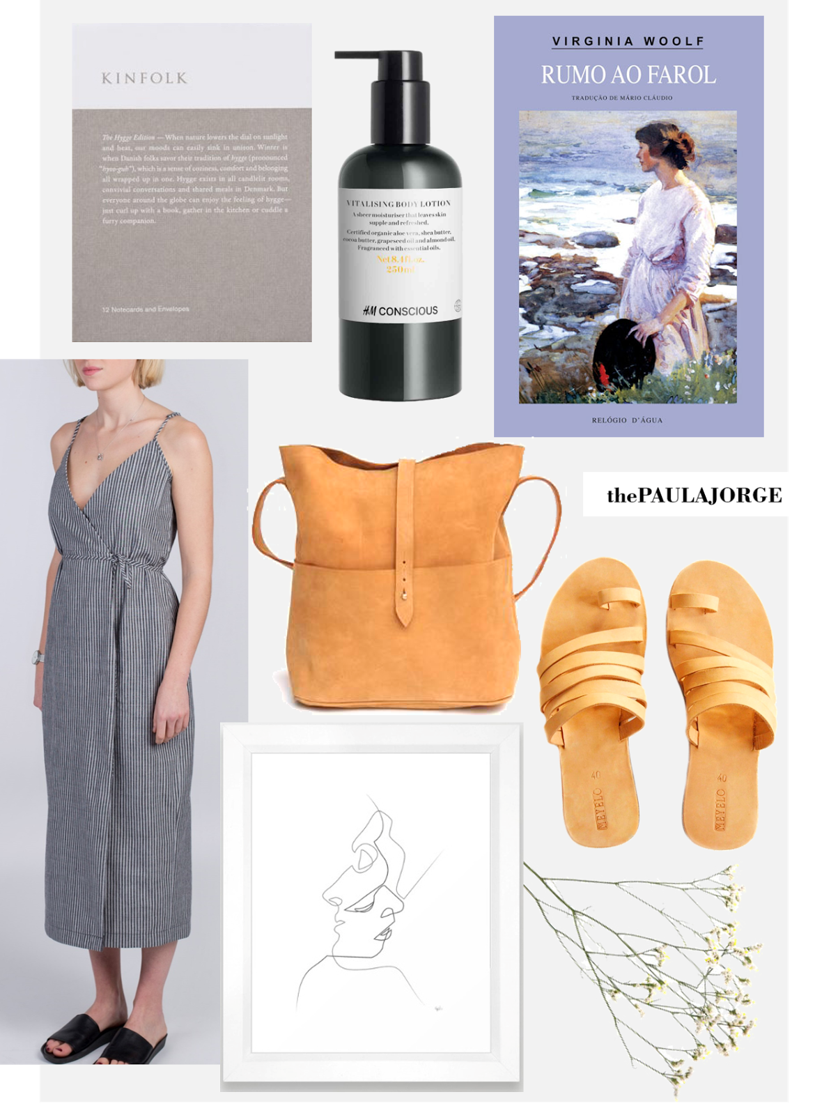sustainable christmas list with virginia woolf veryan dress h&m