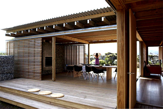 Rumah Kayu Dinding Batu Desain Rumah