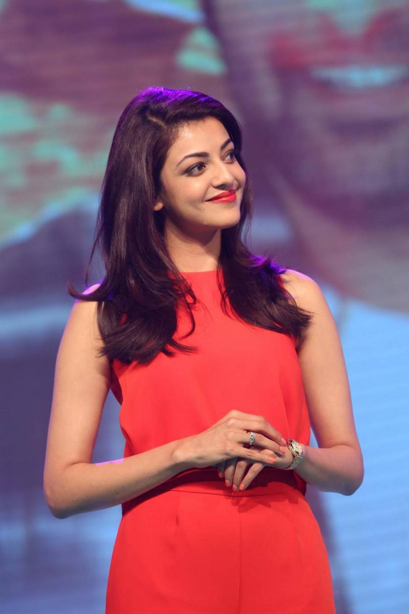 Kajal Images In Orange Dress