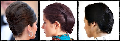 cute 1960s inspired easy updo hairstyles