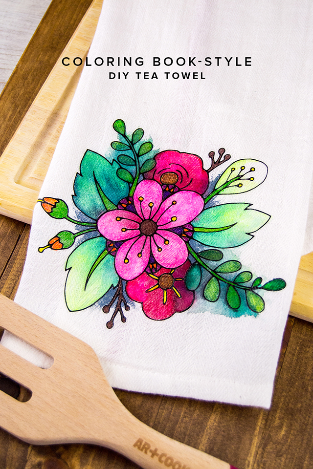 tea towel coloring book page adult coloring