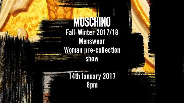 Watch Moschino's Men's Fall/Winter 17 show LIVE HERE TONIGHT!