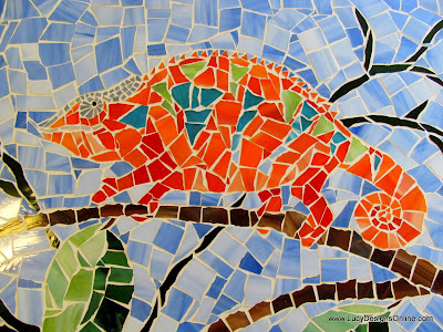 orange chameleon mosaic