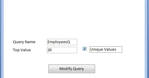 Change Query Top Values Property with VBA-2 ~ LEARN MS