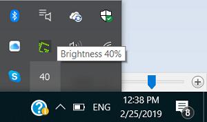 BrightnessTray: Ubah Brightness atau Matikan tampilan dengan klik