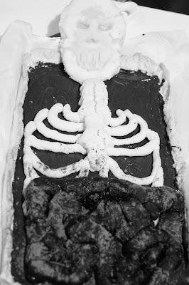 ricetta torta halloween scheletro