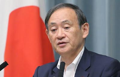 Chefe do gabinete japonês, Yoshihide Suga