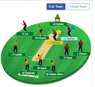 RK VS CV Dream11 Team Prediction,RK VS CV Dream11 expert Team, RK VS CV Playing 11